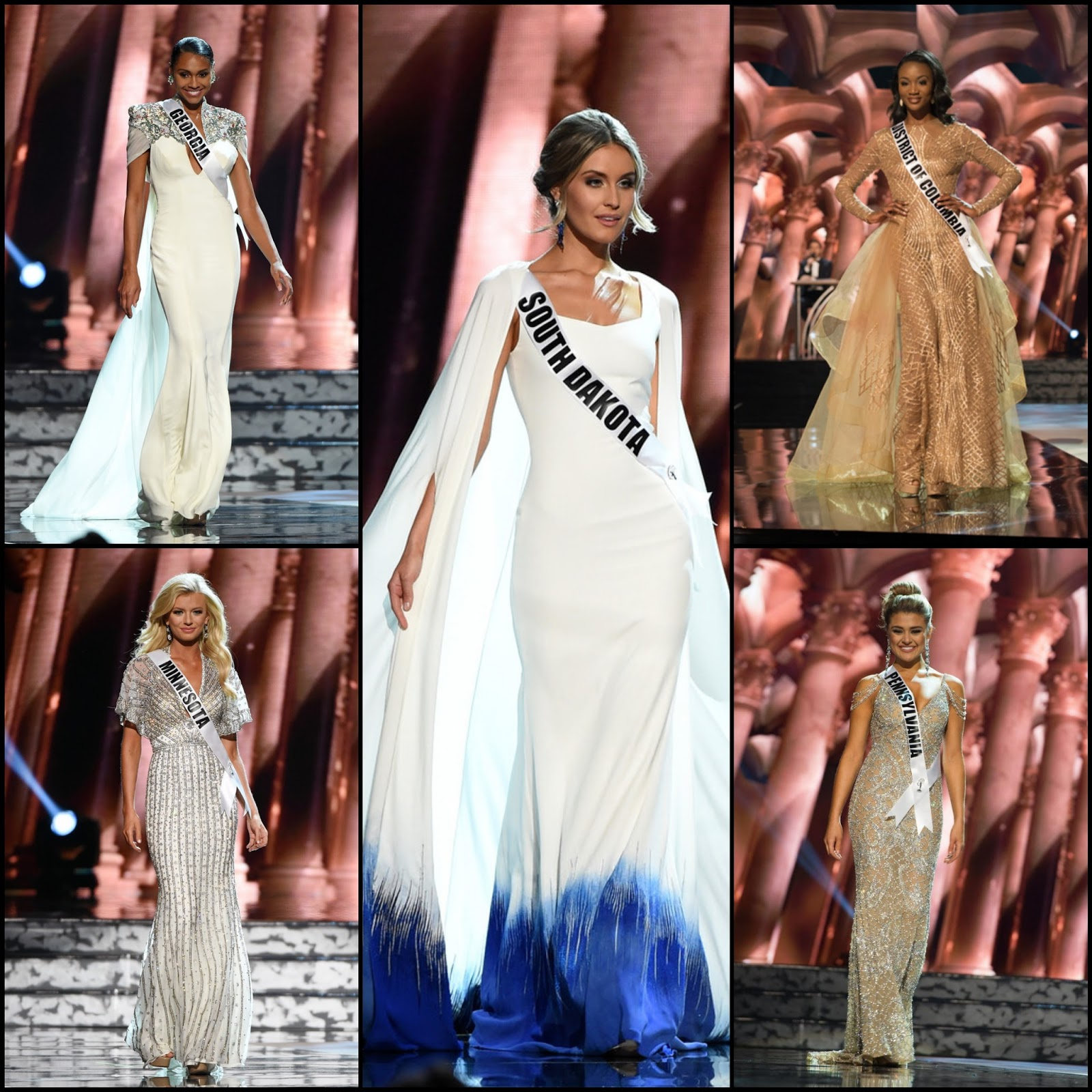 SASHES AND TIARAS.....Miss USA 2016 Preliminaries Evening Gowns: Top ...