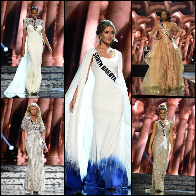 SASHES AND TIARAS.....Miss USA 2016 Preliminary Evening Gowns: My Top 10 Best Gowns!