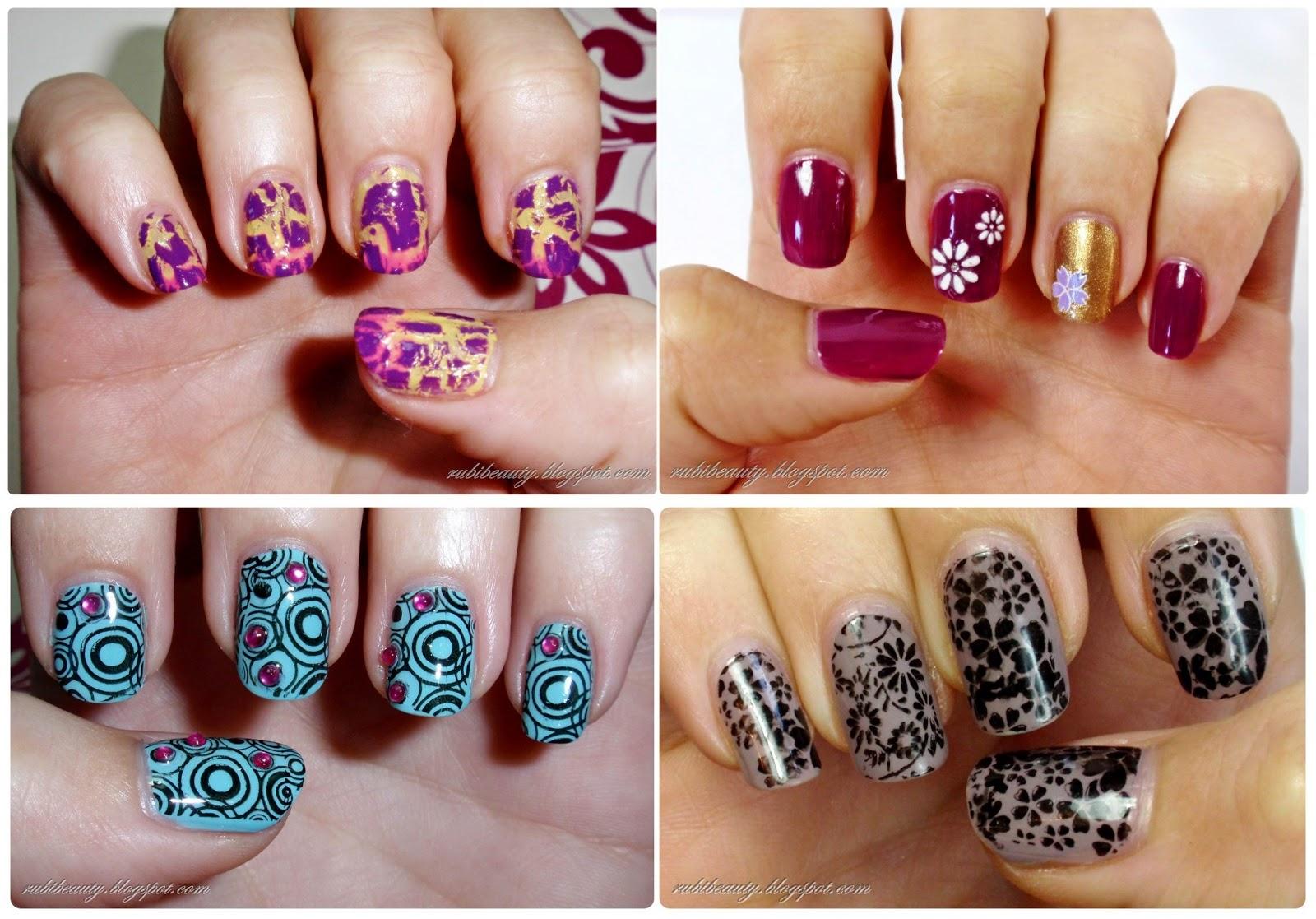 rubibeauty nail art dise os variados de u as vol 2. Black Bedroom Furniture Sets. Home Design Ideas