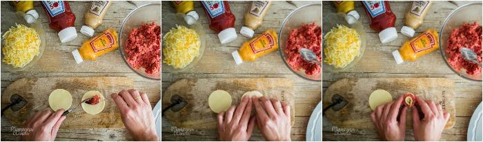 Tarta salada de hojaldre y carne.