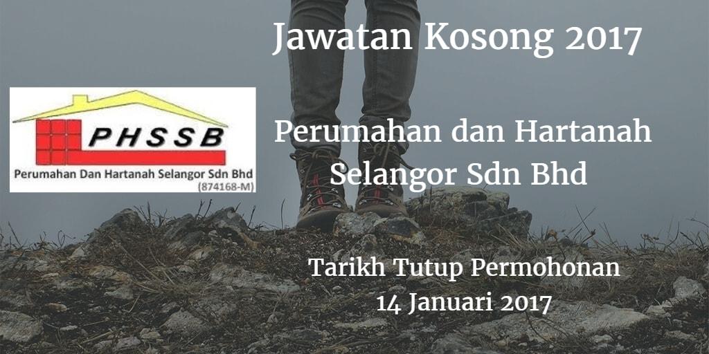 Jawatan Kosong Perumahan dan Hartanah Selangor Sdn Bhd 14 Januari 2017