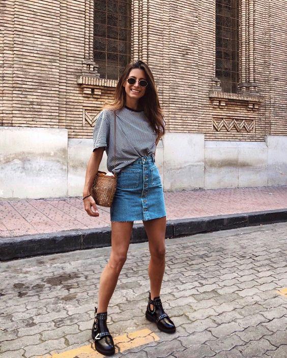 A saia jeans é o novo must da temporada!