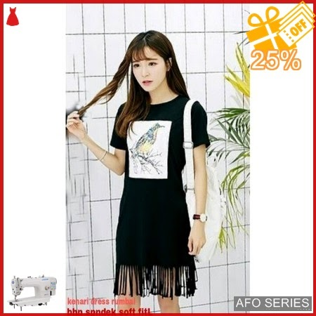 AFO710 Model Fashion Kenari Dress Rumbai Modis Murah BMGShop