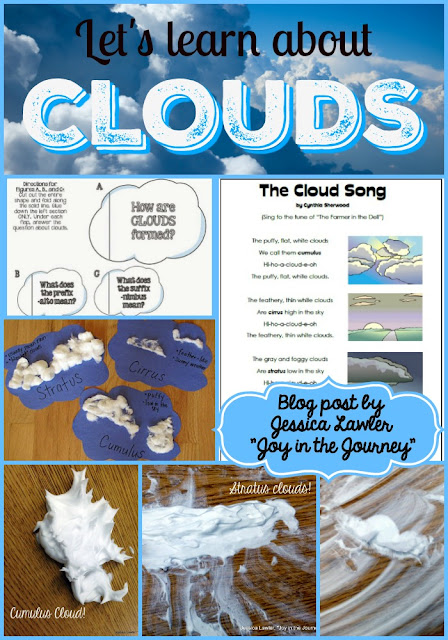 "Blog post filled with fun and engaging ideas for teaching the types of clouds. Book suggestions, videos, interactive notebook foldables, and hands-on activities - this post has it all! Blog post by Jessica Lawler, ""Joy in the Journey"""