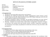 Prota Promes PAI SMP/MTs Kelas 7 Kurikulum 2013