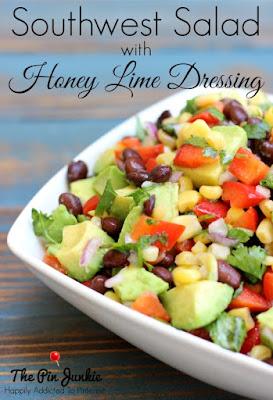 Southwest Salad with Honey Lime Dressing Recipe