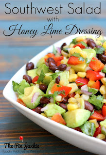 southwest salad with honey lime dressing recipe