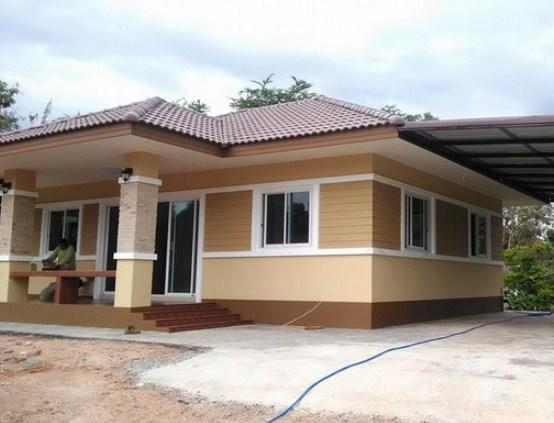 Kombinasi Warna Cat Rumah Modern - Perpaduan Warna cat rumah bagian depan dan samping