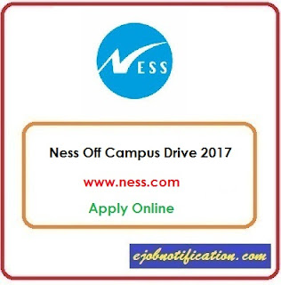Ness Off Campus Drive for Freshers Bangalore Sep'2017 Apply Online