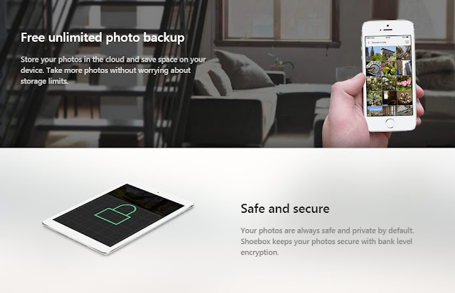 shoebox app backup photos files online free safely