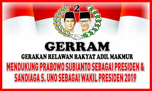 Giliran Purnawirawan Polri Bentuk GERRAM Dukung Prabowo-Sandi