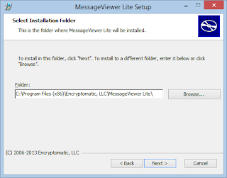 Select the folder where the .eml viewer should be installed on your Windows computer.