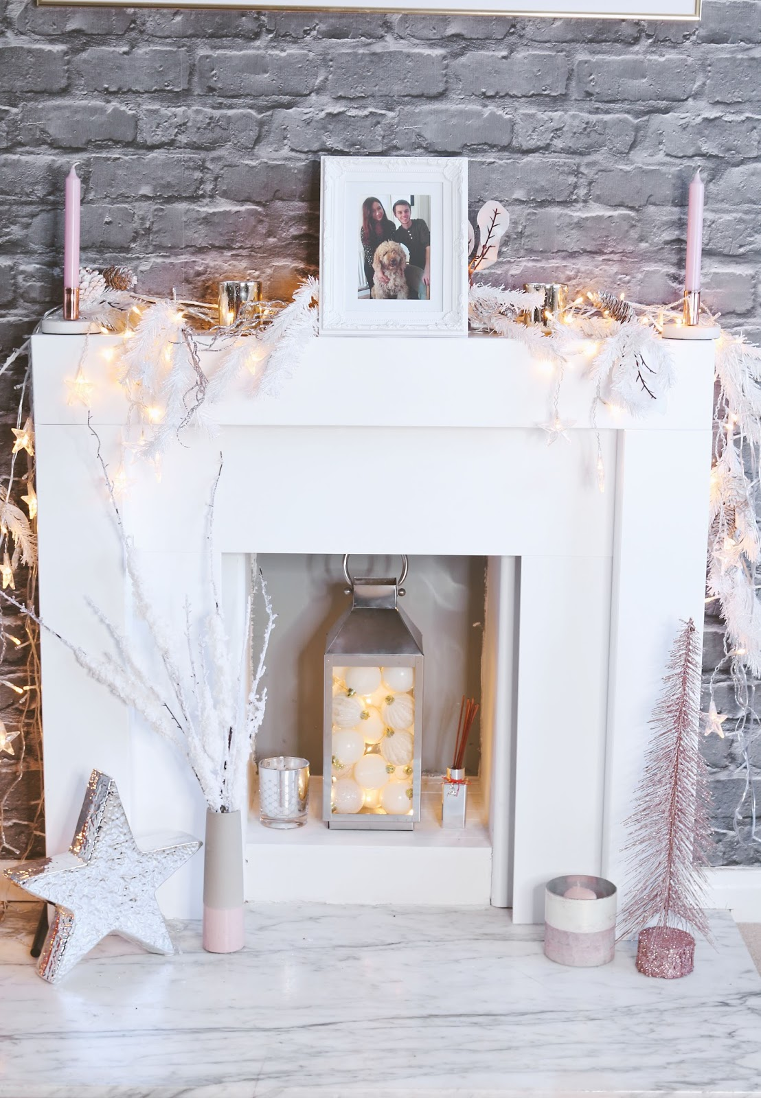 Blogmas, Christmas, home decor, Interiors, christmas decorations, Home, how to style a fireplace, fireplace styling,