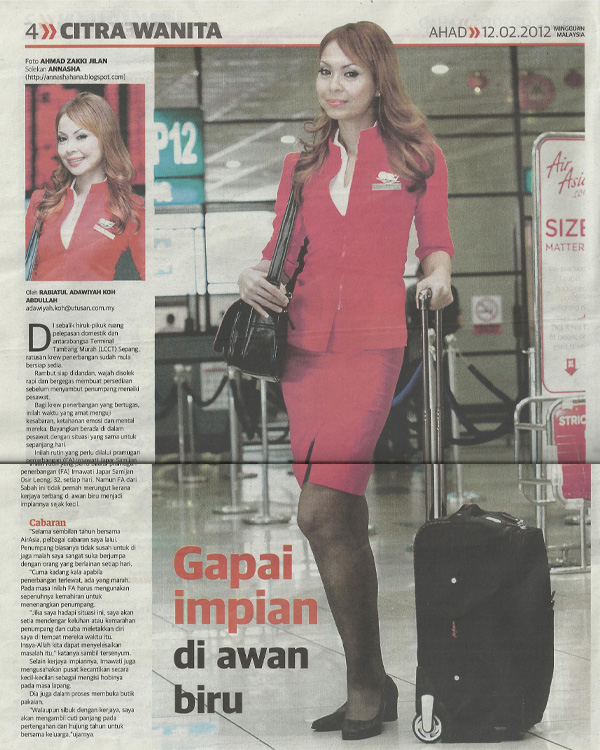 AnnaSha: Makeup Flight Attendant Air Asia