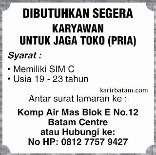Lowongan Kerja Karyawan Toko Batam Centre