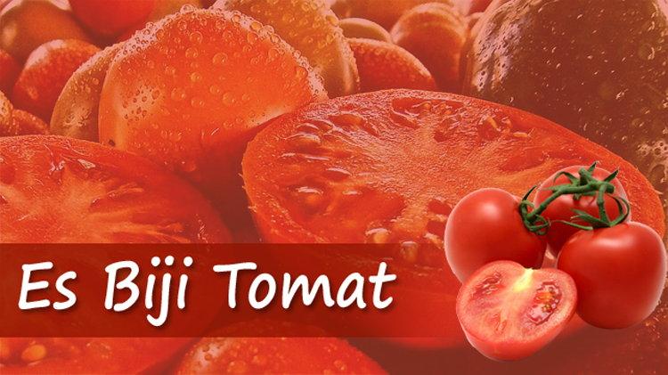 Membuat Es Biji Tomat Sehat Menyegarkan