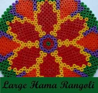 Large Hama bead rangoli