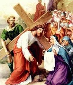 Dibujo de Jesús cerca a Verónica