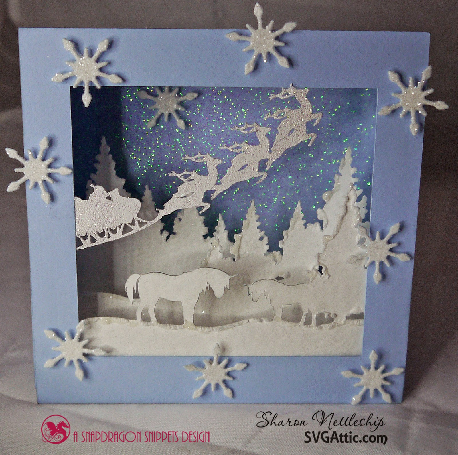 3 under 3 and more all is quiet layered christmas card