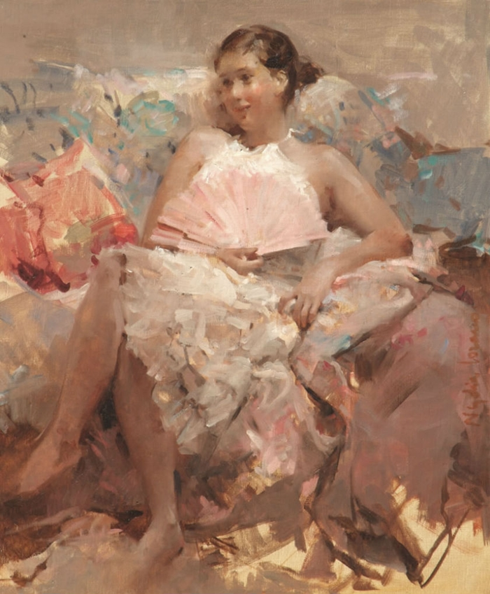 Nydia Lozano 1947 | Spanish Impressionist Figurative painter