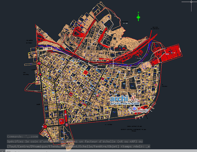 Historic center of lima Dwg