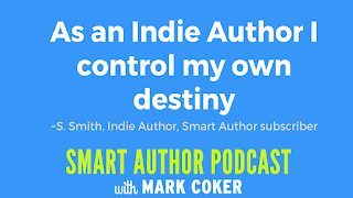 "image reads:  ""As an indie author I control my own destiny"""