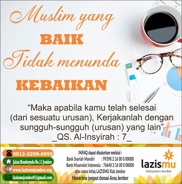 Muslim yang baik tidak menunda kebaikan