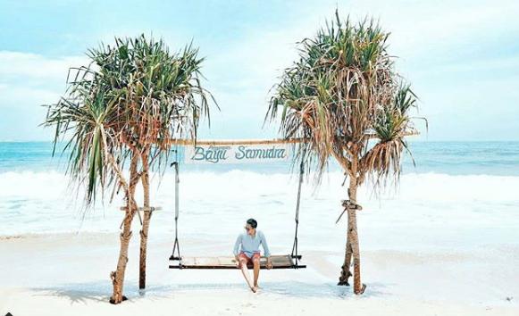 foto keindahan pantai santolo