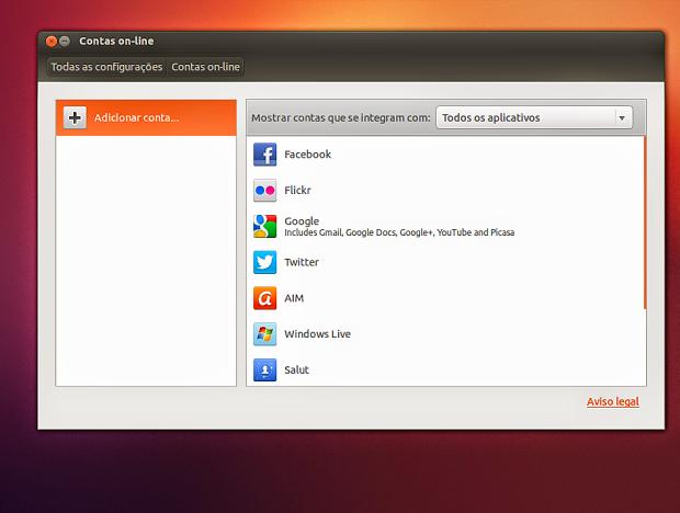 Contas Online no Ubuntu