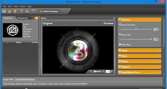 Photomizer Dashboard