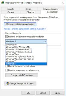 Compatibility Mode merupakan sebuah fitur baru yang rilis pada Windows Vista yang berfungsi untuk memastikan aplikasi yang dulunya dikembangkan / dibangun pada sistem operasi Windows XP  dan versi sebelumnya, dapat berjalan dengan lancar tanpa adanya kesalahan atau bug pada OS Windows terbaru.