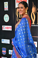 Priya Shree in Beautiful Blue Saree at IIFA Utsavam Awards 2017  Day 2    HD Exclusive Pics 01.JPG