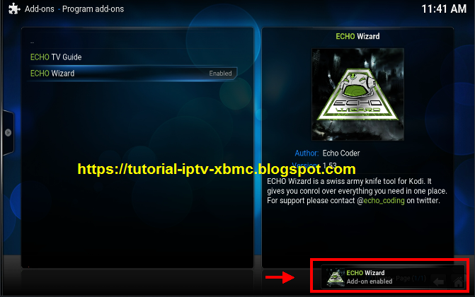 how to get to kodi home screen from build