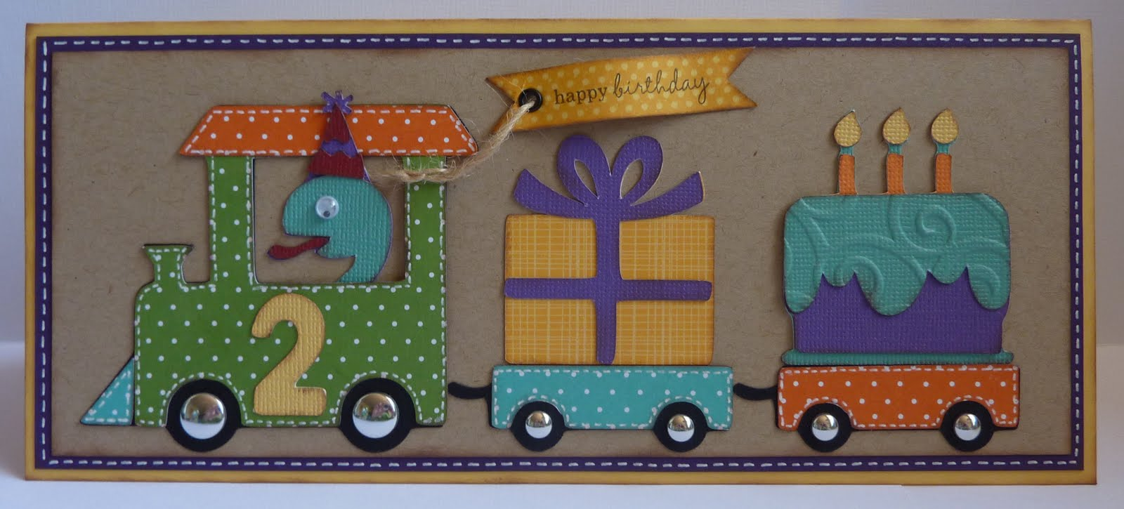 Crafting With Katie Pop Up Train Birthday Card