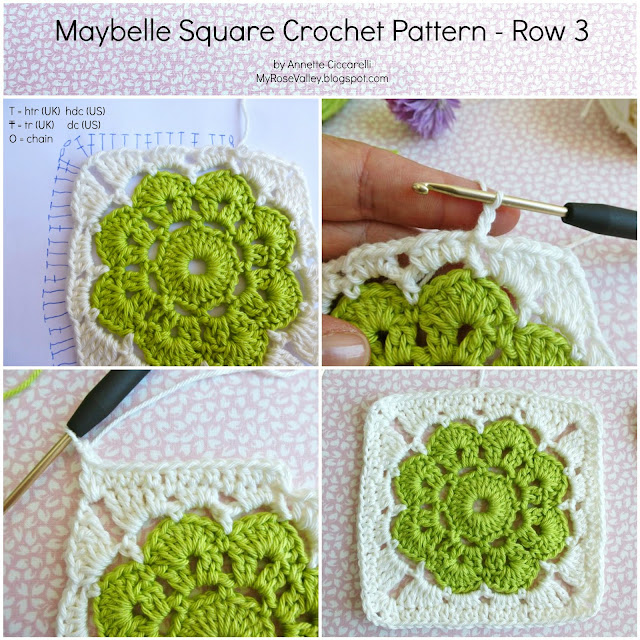 Crochet Stitches Htr : My Rose Valley: Maybelle Square Crochet Pattern