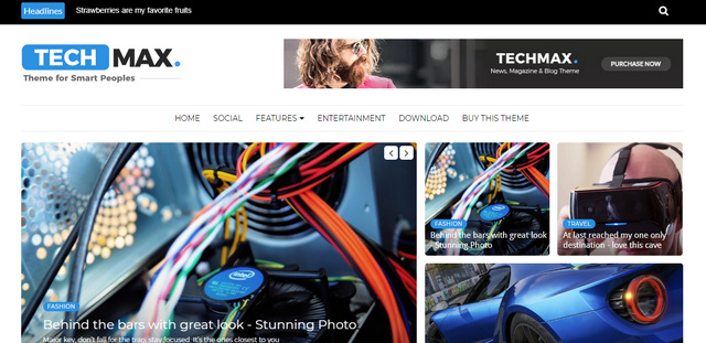 Techmax Technology Responsive Blogger Templates
