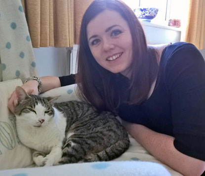 Cats Protection vet Sarah Elliott