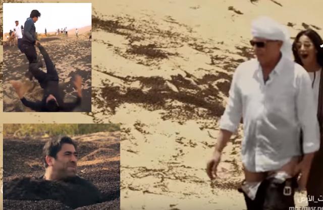 شاهد| محمود حميدة يخلع بنطلونه بعد تعرضه لمقلب رامز 'تحت الأرض' شاهد ماذا فعل وائل كفوري وشاروخان