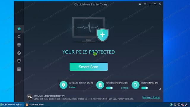 IObit Malware Fighter 7 PRO Ransim Test