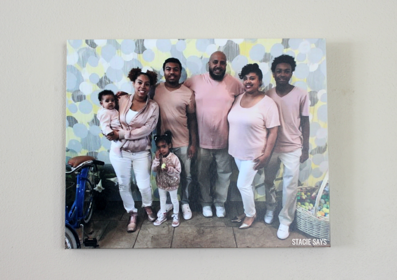 a family wall art canvas
