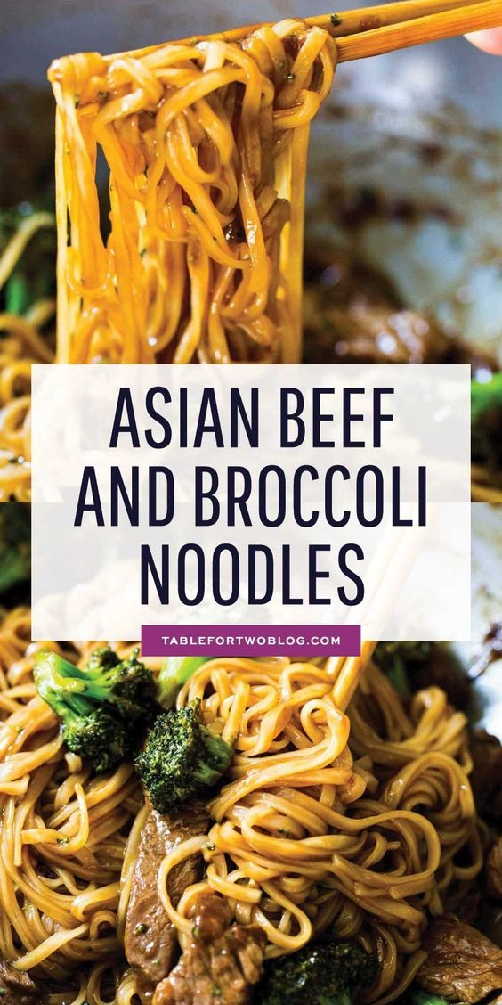 Asian Beef And Broccoli Noodles