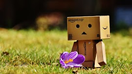 The cute Danbo is enjoying of Spring