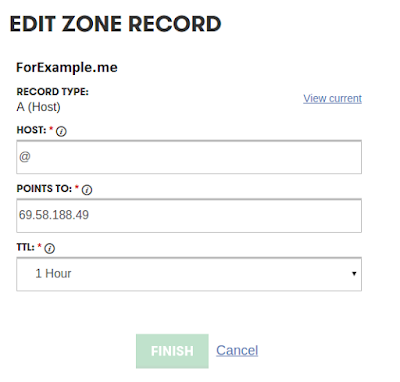 a(host) edit zone record