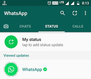 WhatsApp new Picture Status