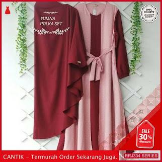 Jual RRJ334D147 Dress Katun Polka Wanita Yumna Set Mc BMGShop