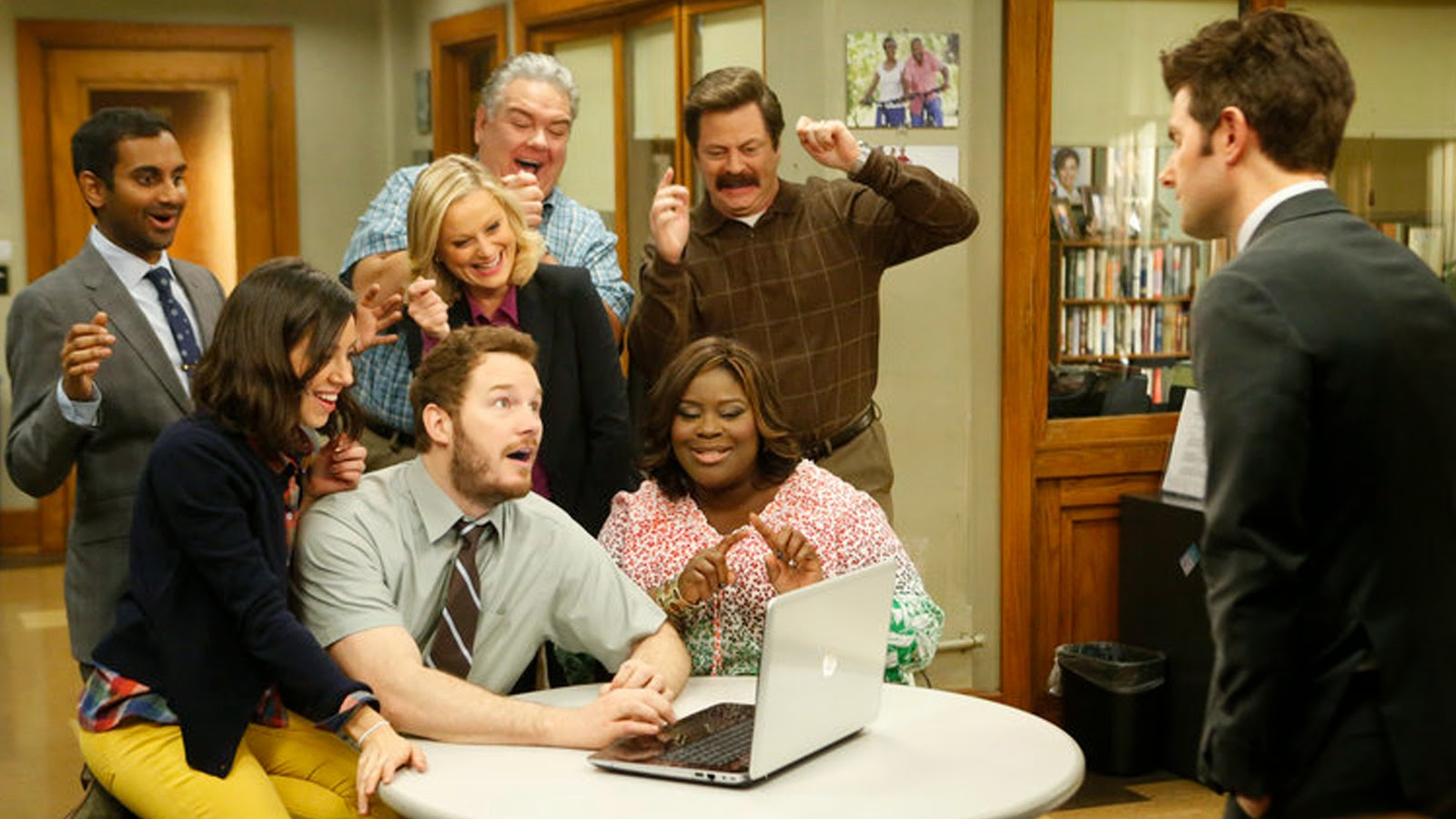 Los protagonistas de 'Parks and recreation'
