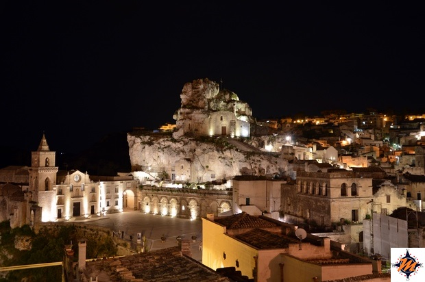 Matera, Sant'Angelo Luxury Resort. Vista dal Lounge Terrace