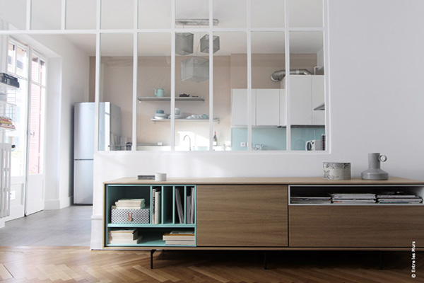 Deco verriere salon for Separation pour cuisine