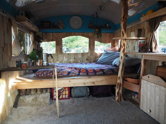 Moon To Moon Tiny House A Converted Bus