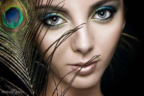 Peacock Wedding Makeup